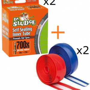 Dr Sludge 700 x 19-25c Anti Flat/Self Sealing Inner Tube/Liner Bundle