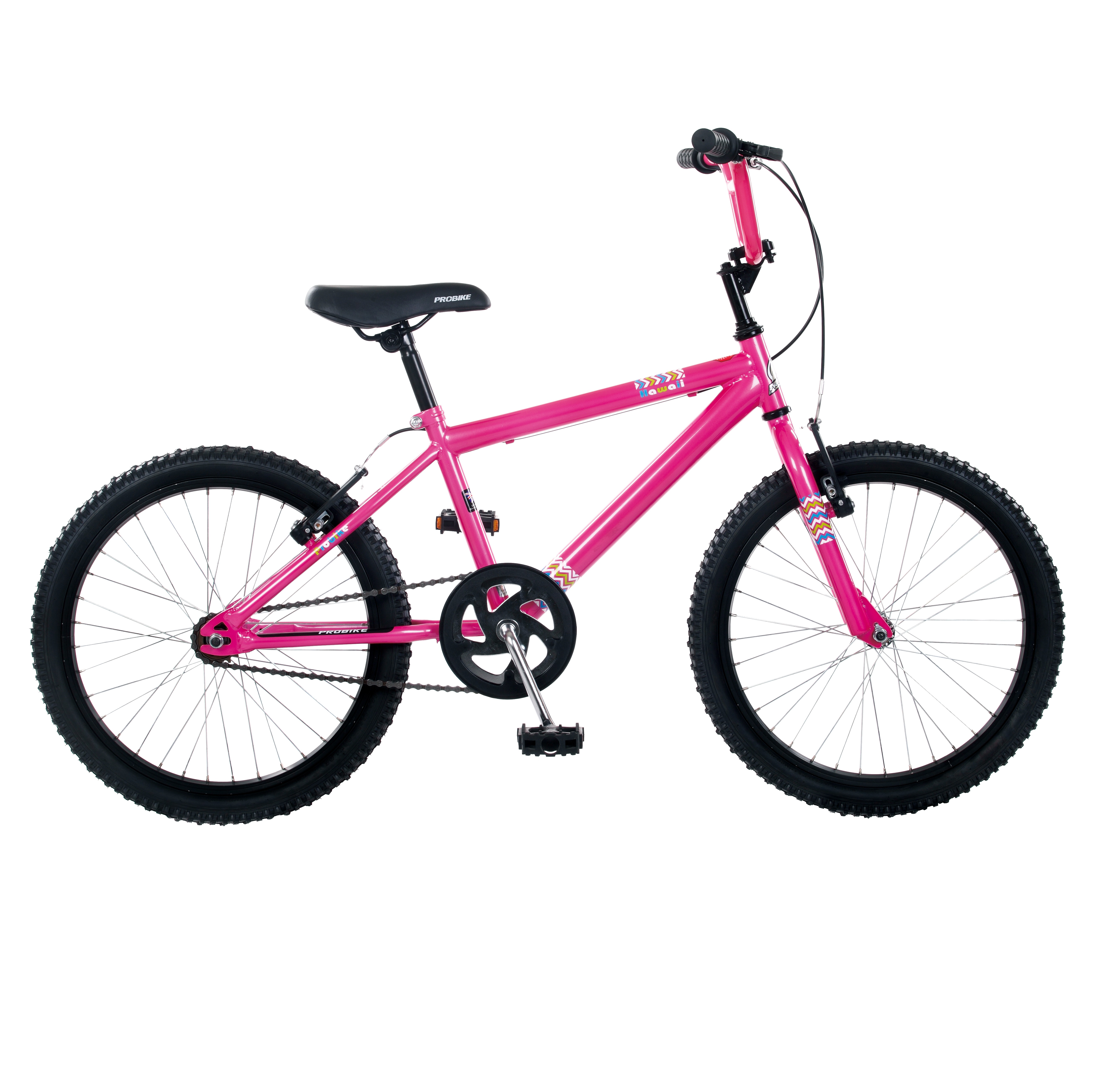 Bicycle 5mm LINED brake cable housing and hardware kit BMX MTB PINK